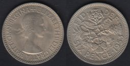 Sixpence 1953 UNC-Ch.UNC