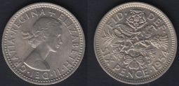 Sixpence 1954 Ch.UNC